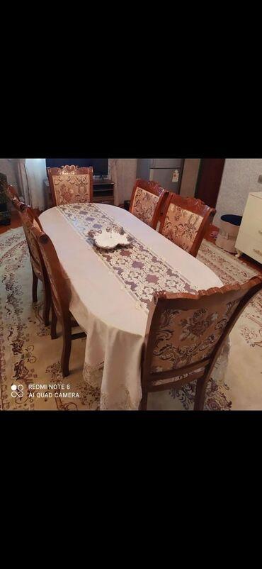 Masa destu. 6 stulla. masa acilir . yaxsi veziyyetde. tecili satilir