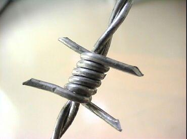 Кольючая проволока 100м 200м 300м стальная, оцинкованная, черные