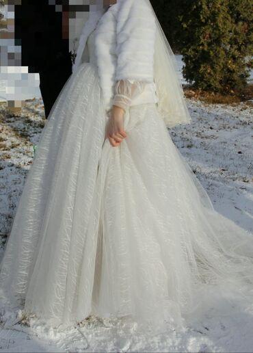 Продается свадебное платье и шубка, цена 10000 сом, пишите в вацап по