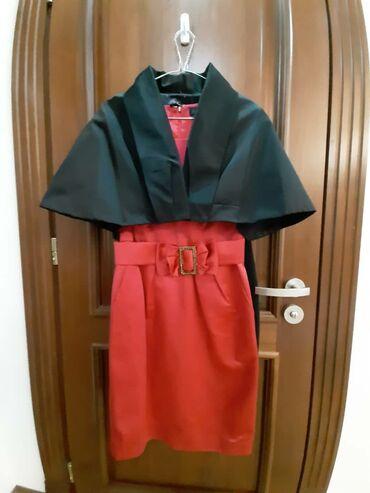 Размер 44-46. Цвет платья розовый,пиджак чёрный. Материал Атлас