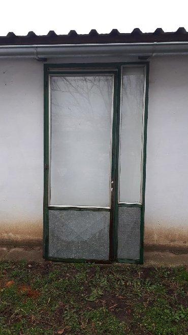 Ostalo | Backa Topola: Metalna vrata sa ramom,ustakljena od profila 40x40 Dim rama