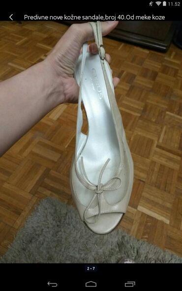 Ženska obuća | Obrenovac: Predivne nove kožne zenske sandale broj 40 od fine meke kože
