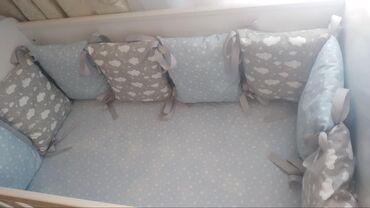 снять квартиру почасово - Azərbaycan: Подушки ( бортики для кроваткиабсолютно новые ) шили на заказчехол