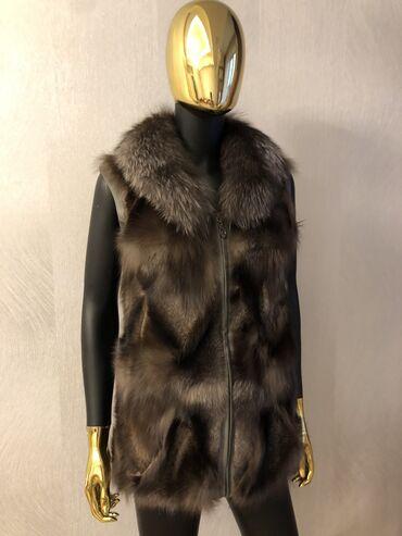 теплые платья для полных в Кыргызстан: Женская безрукавка (натуральный мех)Продаю безрукавку из натурального
