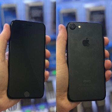 Bakı şəhərində Iphone 7 blackmatt 32gb normal veziyetde karopka adaptr 1ayda zemanet