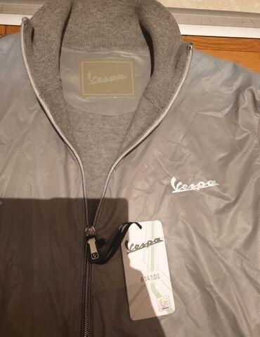 Muska moto jakna - Srbija: VESPA original muska jakna sive boje, nova sa etiketom i hologramom