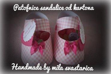Patofnice sandalice od kartonaidealne za sva vasa slavlja i proslave