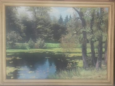 """Картина масляная """"В ПРУДЫ"""", 2012 года, размеры 70х50. 60х45"""