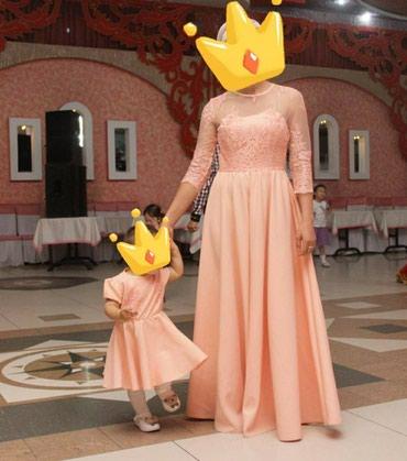 платье мама и дочь в Кыргызстан: Платье мама и дочка одевали 1 раздочка размер на 1.5 года, мама 42