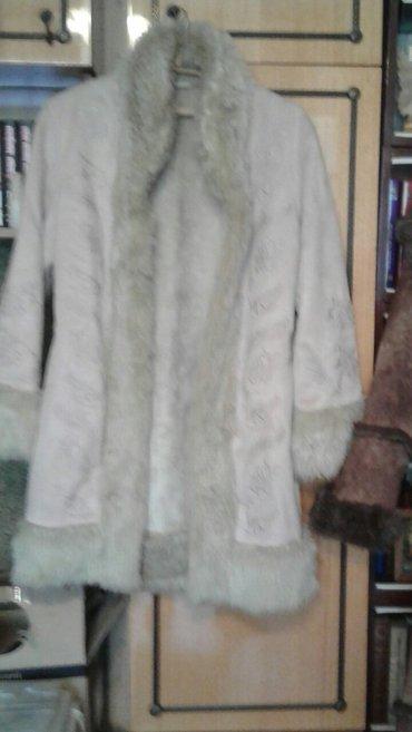 Дубленка короткая. мех искусственный с вышивкой. совсем не носили в Бишкек