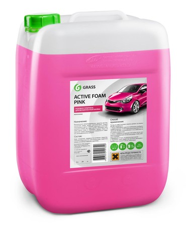 чехлы на авто в Азербайджан: GRASS Авто шампунь для бесконтактной мойки авто Active Foam Pink 23
