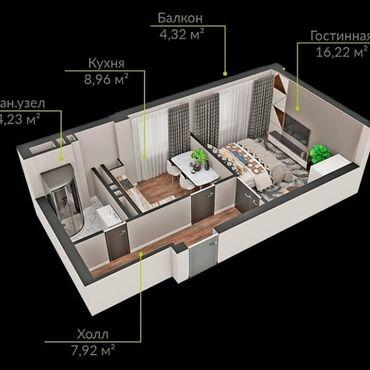 Продается квартира: Элитка, 1 комната, 42 кв. м