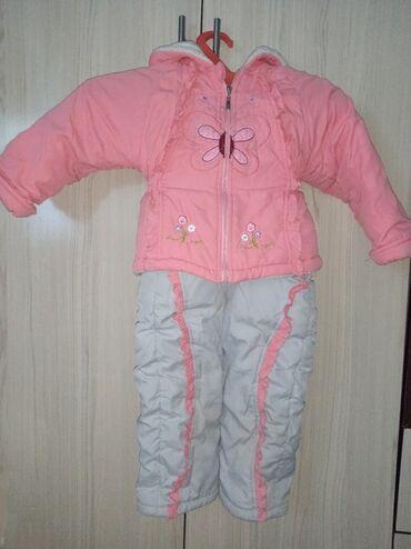 Двойка курточка + комбинезон на девочку 1-3 годика в хорошем состоянии