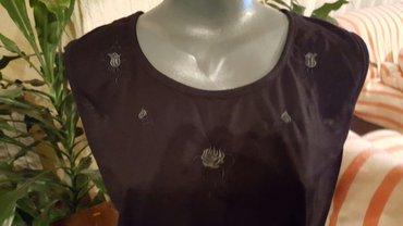 Crna bluza sdugim rukaviz italij - Srbija: Majica  crna bluza sa aplikacijom  velicina m