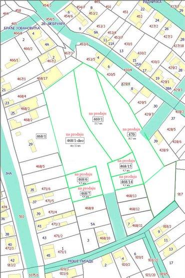 Građevinski placevi - zemljište u centru uba - Ub