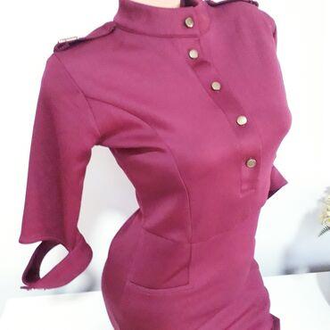 Extra bordo ljubičasta haljina vel M turski brend EtikaNije