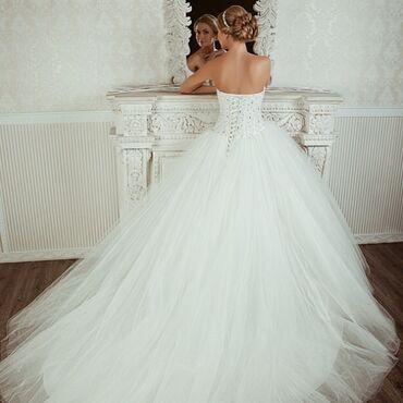 Свадебные платья и аксессуары - Бишкек: Продаю сказочное итальянское свадебное платье от Malinelli - Barletto