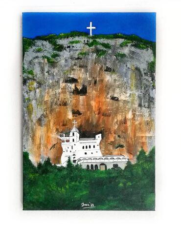 Kućni dekor - Sremski Karlovci: Ostrog Umetnička slika Akril na platnu 40x60cm