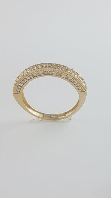 Кольца из жёлтого золота 585проба Вставка циркон Размер кольца 17.0 в Бишкек