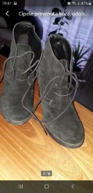 Ženska obuća | Smederevska Palanka: Cipele od prevrnute koze broj 37