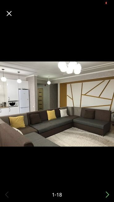 ���� �� �������������� �������������� в Кыргызстан: Элитка, 4 комнаты, 110 кв. м Теплый пол, Бронированные двери, Видеонаблюдение