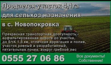 Земельные участки - Кыргызстан: Продается участок 4 соток Для сельского хозяйства, Собственник, Красная книга