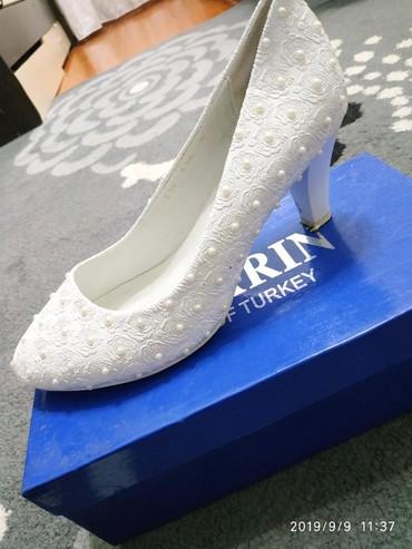туфли один раз одевали в Кыргызстан: Продаю свадебные туфли одевала один раз размер 39