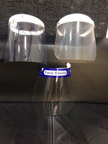 Защитные маски. Щиток.  Маска с синим ободком 70 сом, свыше 100шт- 55