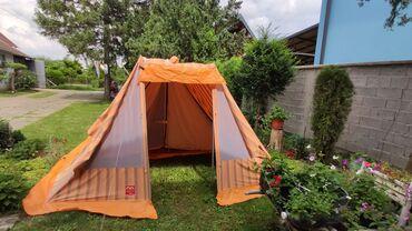 Predsoblje - Srbija: Kompletan porodični šator sa zatvorenim predsobljem i komarnicima na