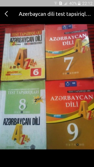 Bakı şəhərində Azerbaycan dili test tapwiriqlari. 6.7.8.9 sinif. Teze qalib. Hamisi