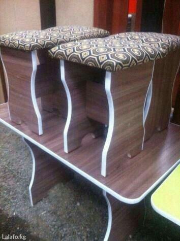 продаб новый стол с 4 табуретками в Бишкек