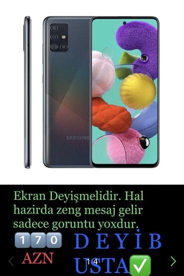1083 elan | SAMSUNG: Samsung A51 | 64 GB | Göy | Qırıq, Çatlar, cızıqlar, Sensor