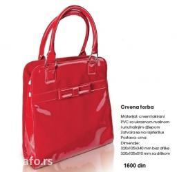 Avon dama - Srbija: Avon crvena lakovana torba. Potpuno nova. Svi detalji su na slici