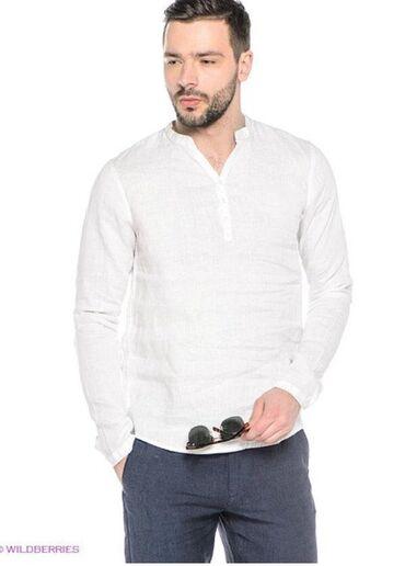 Мужская одежда - Кыргызстан: Срочно срочно оптом продаю рубашки !! Материал 100% лен отличного