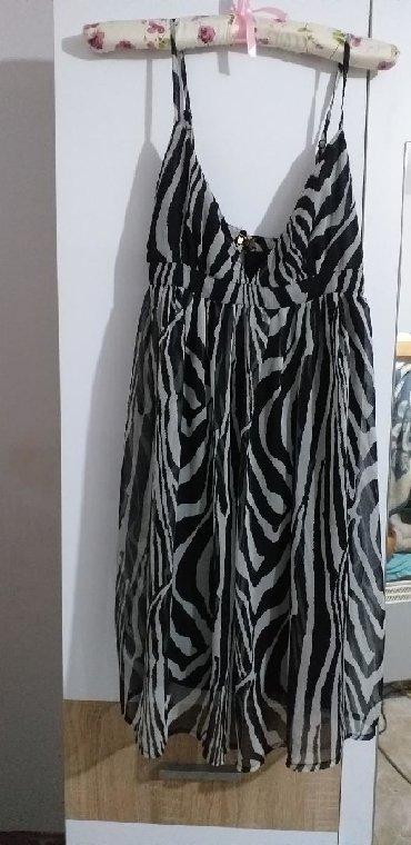 Haljina bolje stoji punijim osobama duzina materijal pa - Srbija: HiM haljina, jednom obucena. Lep materijal