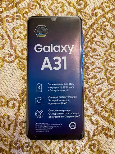Samsung - Bakı: Samsung Galaxy A31 telefonu, 64 GB yaddaşı, 4GB RAM-ı var. Bu ilin