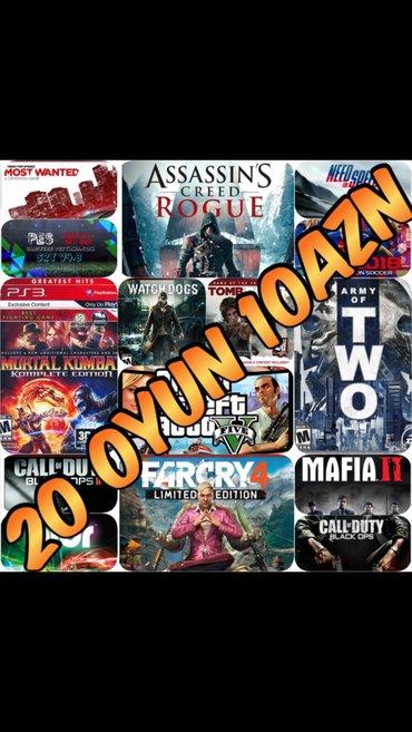 Bakı şəhərində Playstation ucun en yeni esas oyunlarin yazilmasi... 20 oyun 10azn...