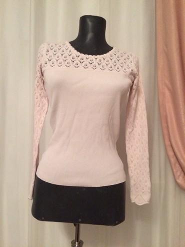 женские трикотажные халаты в Азербайджан: Бледно-розовая трикотажная кофта, 48 размер