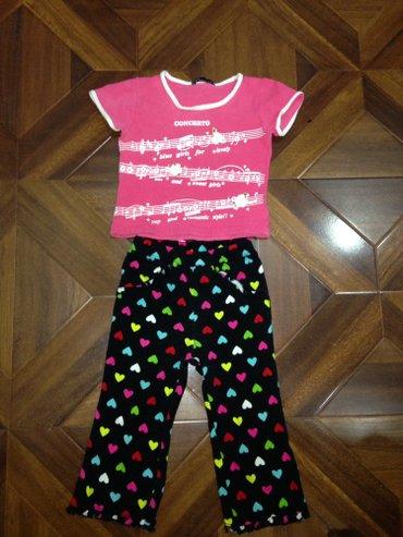 Штаны и футболка в нормальном состоянии,на девочку 2 года,за оба 150 с в Бишкек