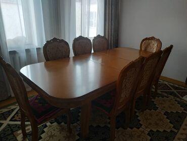 Стол (2.5 м х 1.1 м) .стулья (8шт)  Сост отличное. Уступка