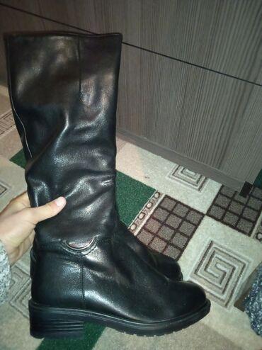Продаю сапоги кожаные, очень качественные почти новые, носила два три