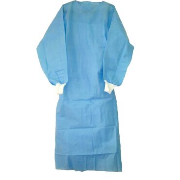 медицинские одноразовые халаты в Кыргызстан: Халат медицинский из нетканого материала Спанбонд. Так же имеется