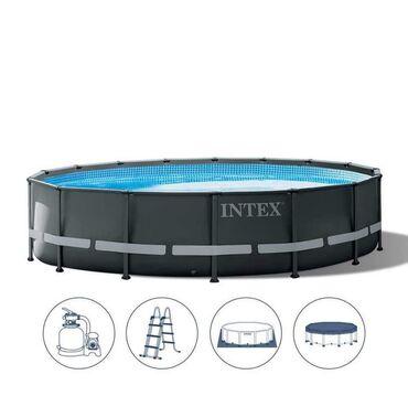 Ovaj luksuzni bazen sa metalnom konstrukcijomnudi dugotrajnu upotrebu