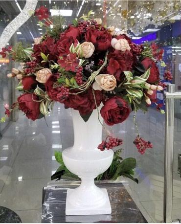 Вазы, цветы и зелень в ассортименте на в Бишкек