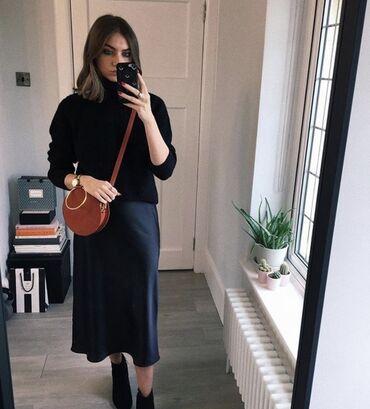 Атласная юбка новая Размер стандарт