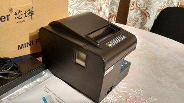 Чековый принтер xprinter. Ширина чека 80мм. Самообрезка, порт lan , с  в Бишкек
