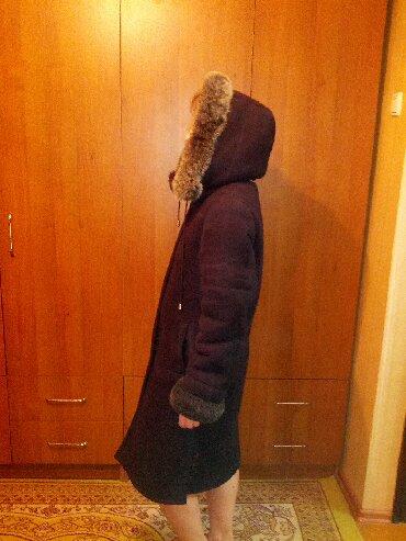 дубленка из тосканы в Кыргызстан: Дубленка, женская, черного цвета, из искусственного меха, б\у, в