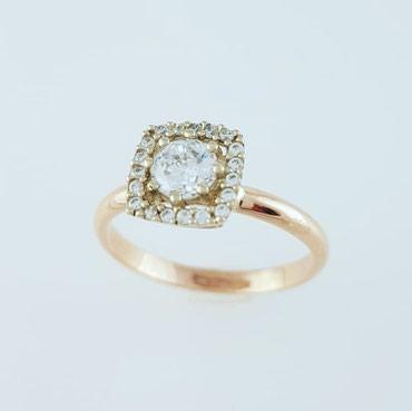 Комплект из красного золота 585проба Вставка циркон Размер кольца 17.0 в Бишкек