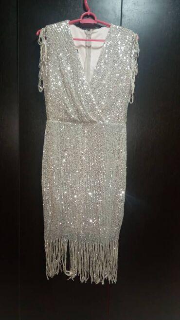 Женские платья размера 44-46 турция🇹🇷 серебристое - состояние нового