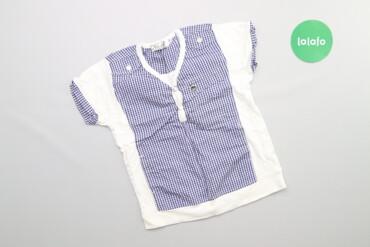 Топы и рубашки - Синий - Киев: Дитяча сорочка з короткими рукавами у клітинку Next, вік 6 р.    Довжи